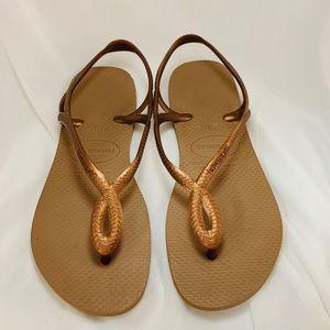 Havaianas Kids Luna Sandal Rose Gold-33/34